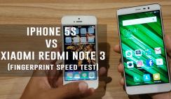 iPhone 5S VS Xiaomi Redmi Note 3 (FingerPrint Speed Test)