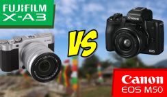 Canon EOS M50 VS Fujifilm X-A3 (Entry-Level Camera Side by Side Comparison Test)
