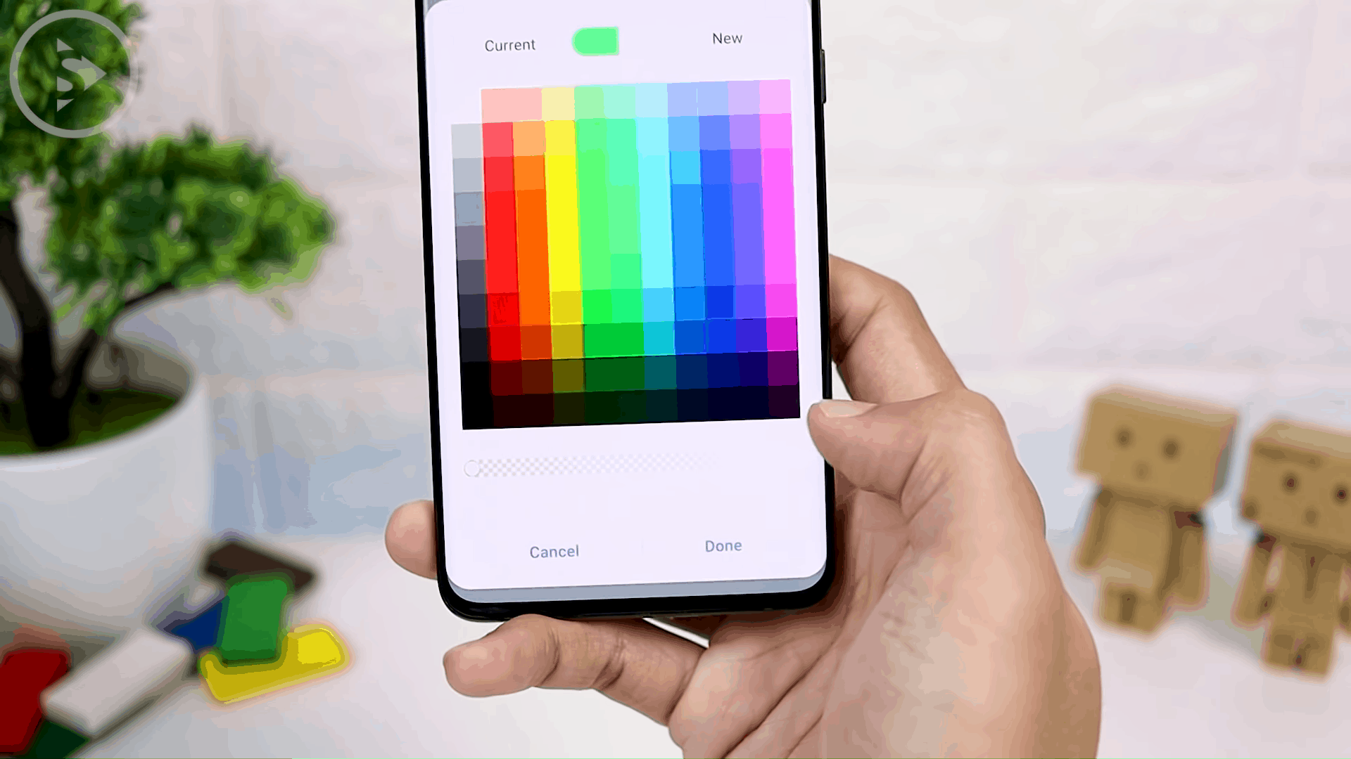 How to Remove or Change Handle Display Color in One Hand Operation+