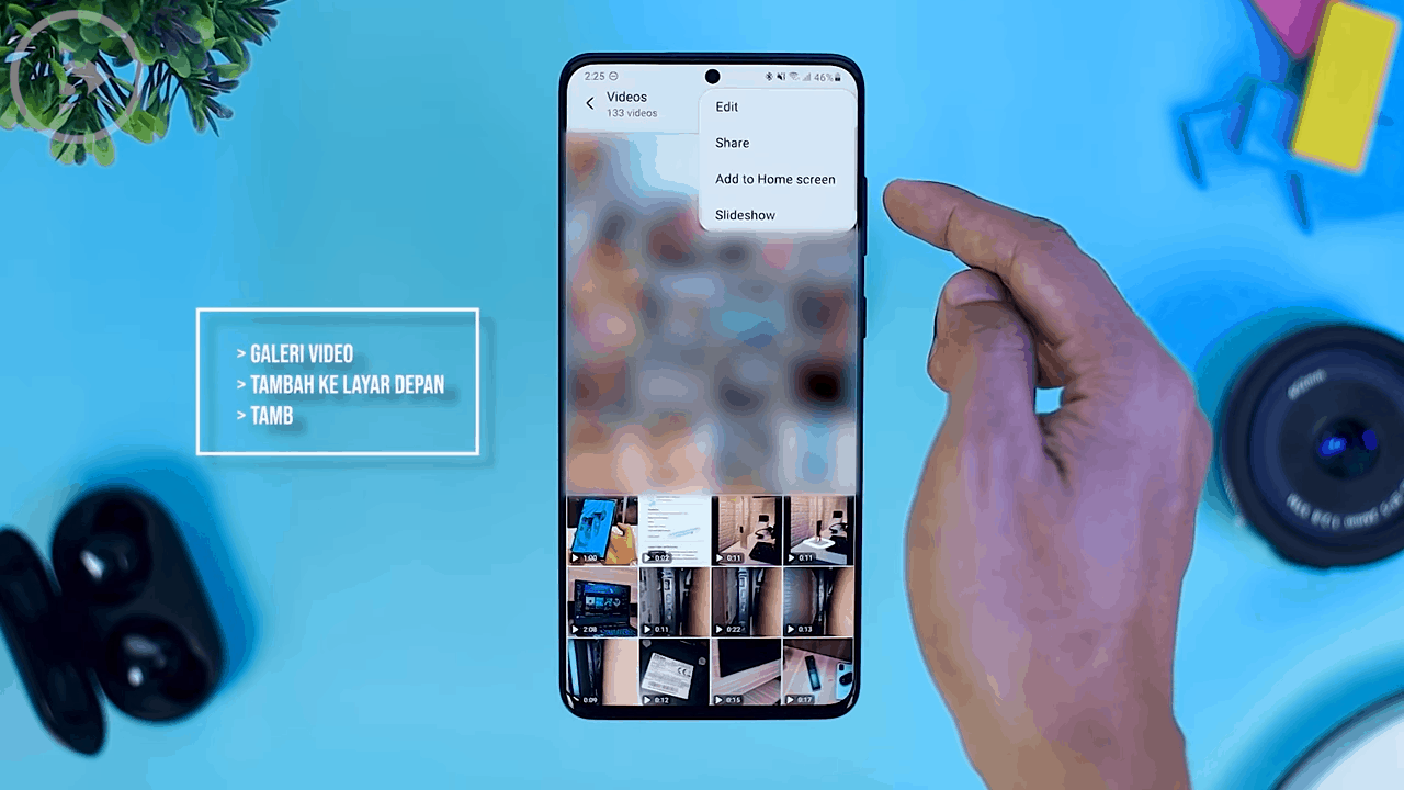 Shortcuts for Video on Gallery