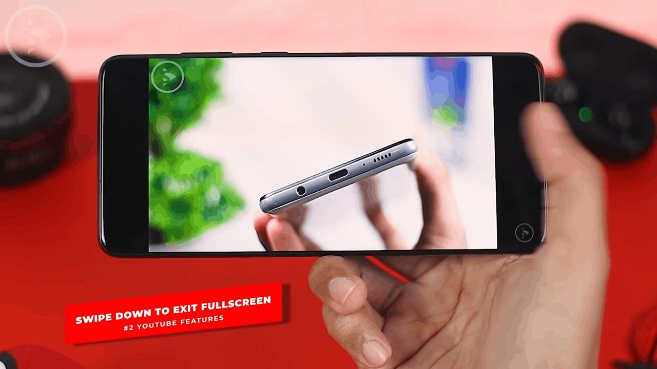 Swipe Down to Exit Fullscreen Mode
