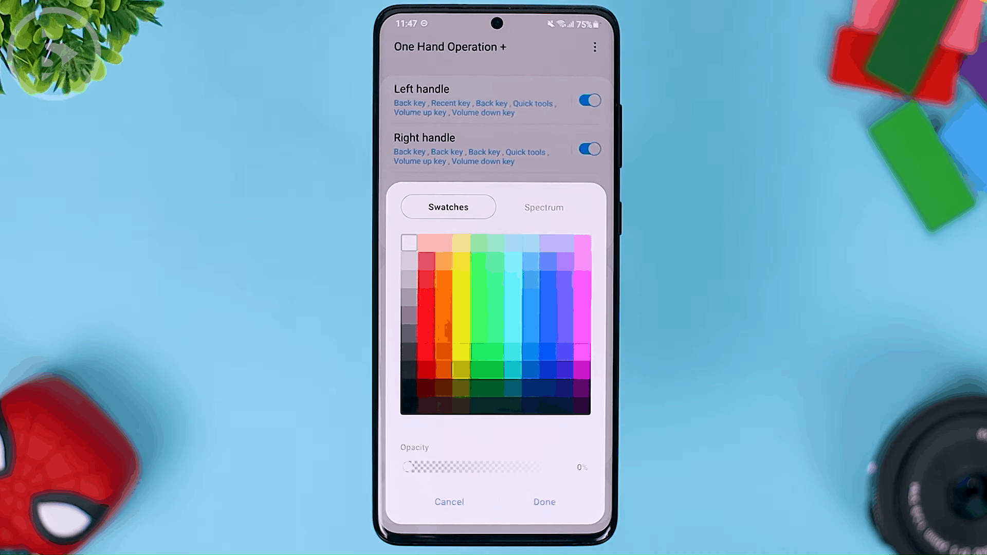 Handle Color - The Latest One Hand Operation+ Feature in Update 2021 - A MANDATORY Application For Full Screen Gesture Users