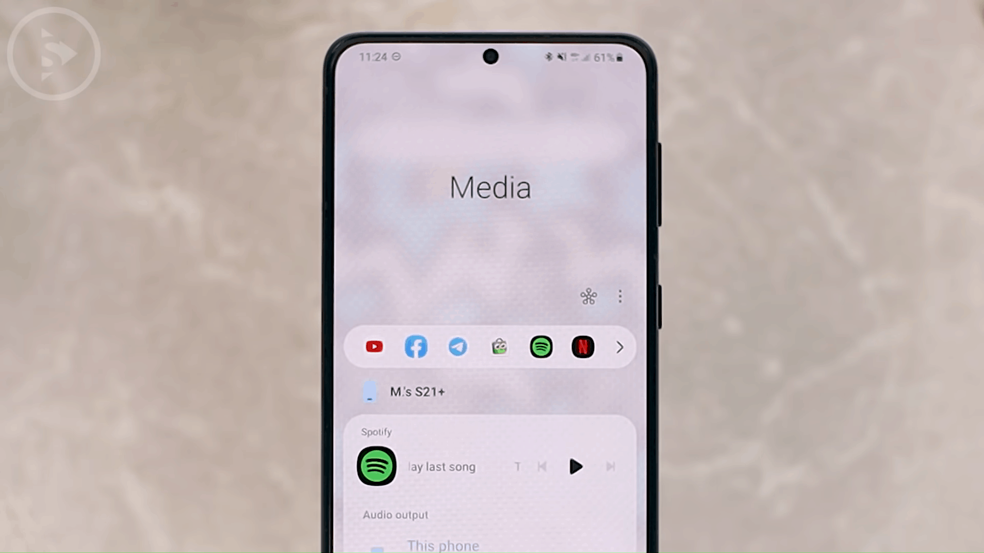 Add 6 Shortcut on Media Control - 8 New and Cool Samsung Features in One UI 3.0 and One UI 3.1