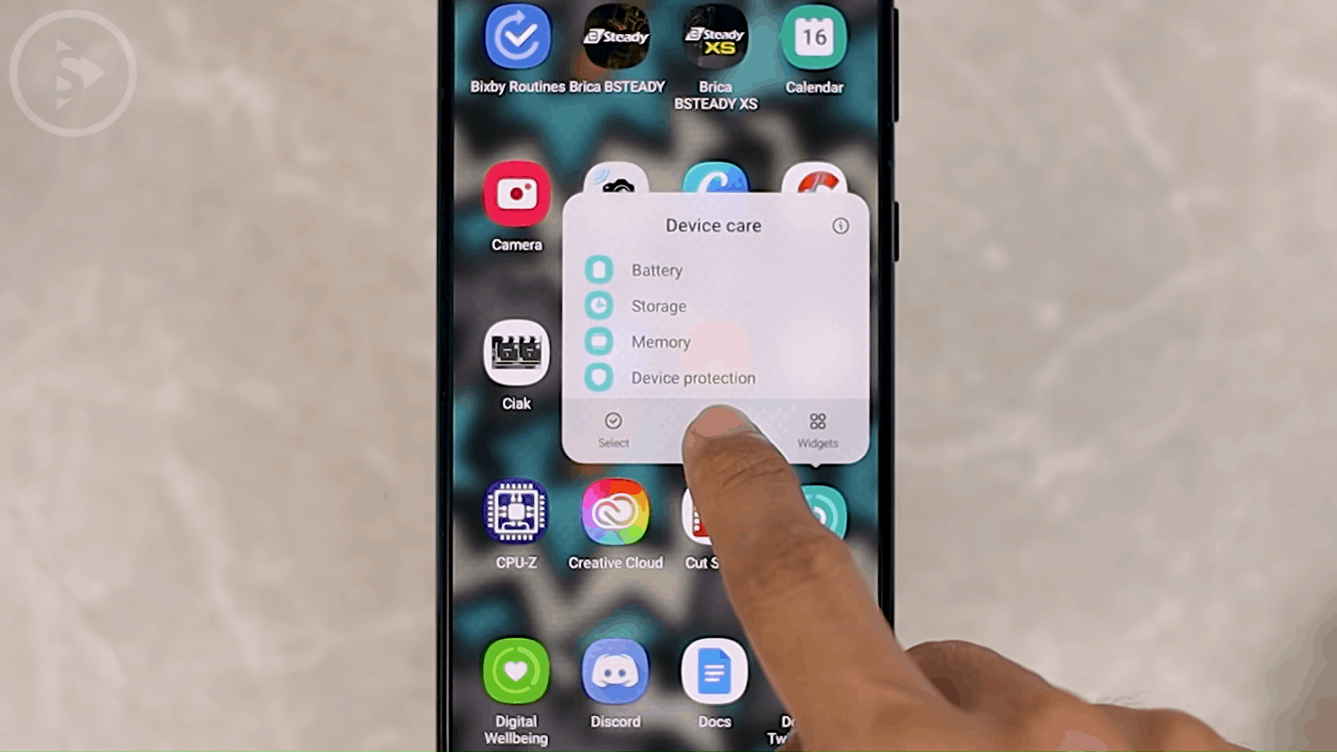 Add Device Care, Digital Wellbeing, and Bixby Routine Shortcuts on Homescreen - 8 New and Cool Samsung Features in One UI 3.0 and One UI 3.1