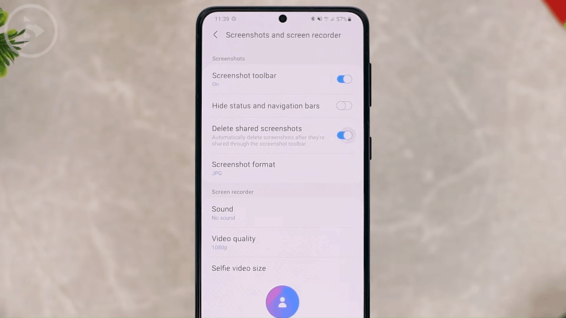 Auto Delete Shared Screenshot - 8 New and Cool Samsung Features in One UI 3.0 and One UI 3.1