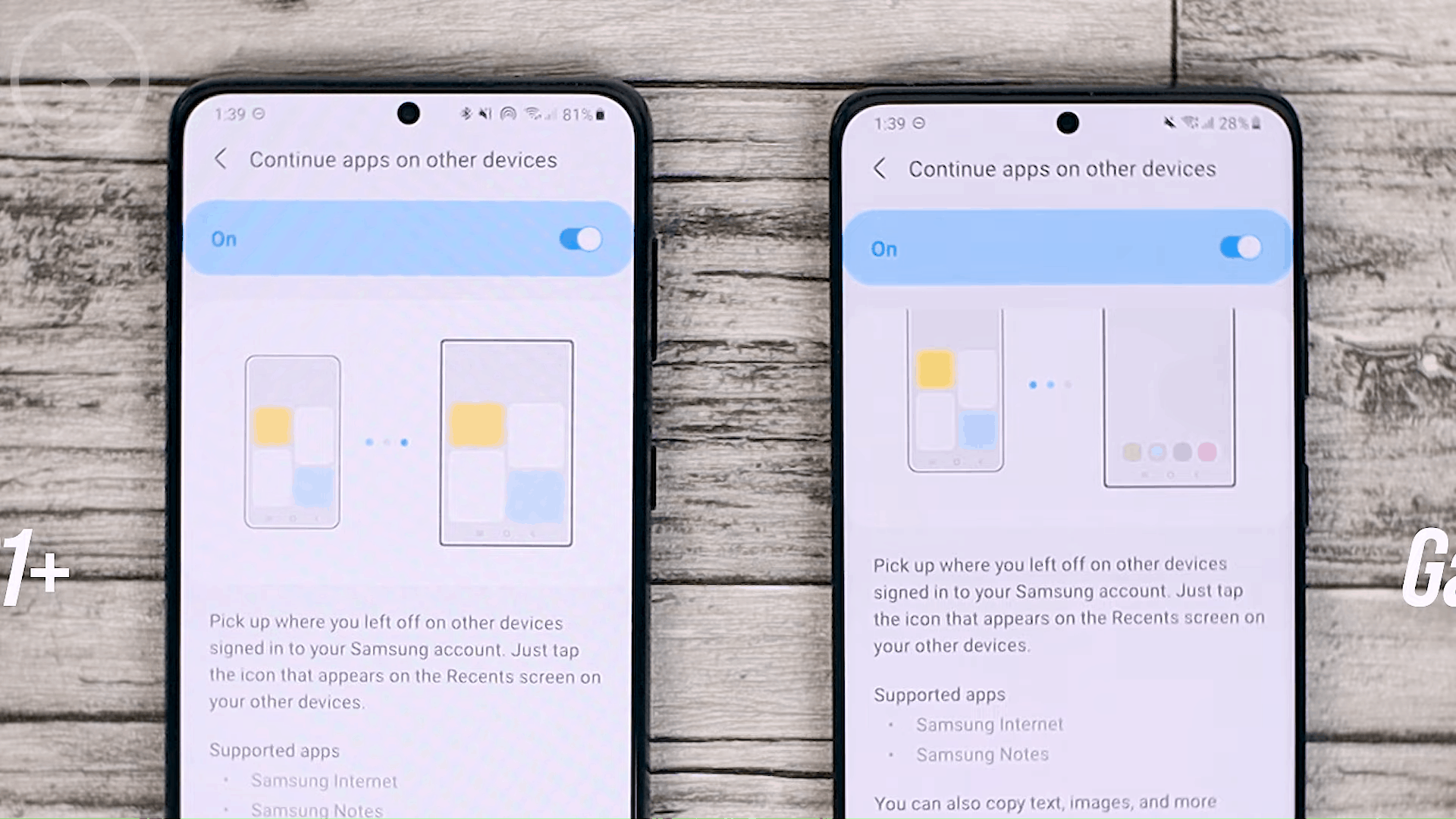 Continue App on Other Devices - One UI 3.1 Features on Samsung S20, S20+, S20 Ultra
