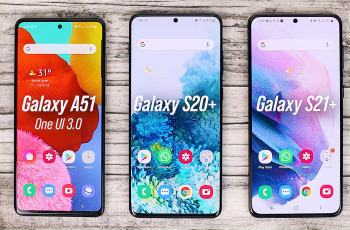 One UI 3.0 features of Samsung Galaxy A51 and its comparison with the Galaxy S20+ and One UI 3.1 on the Galaxy S21+