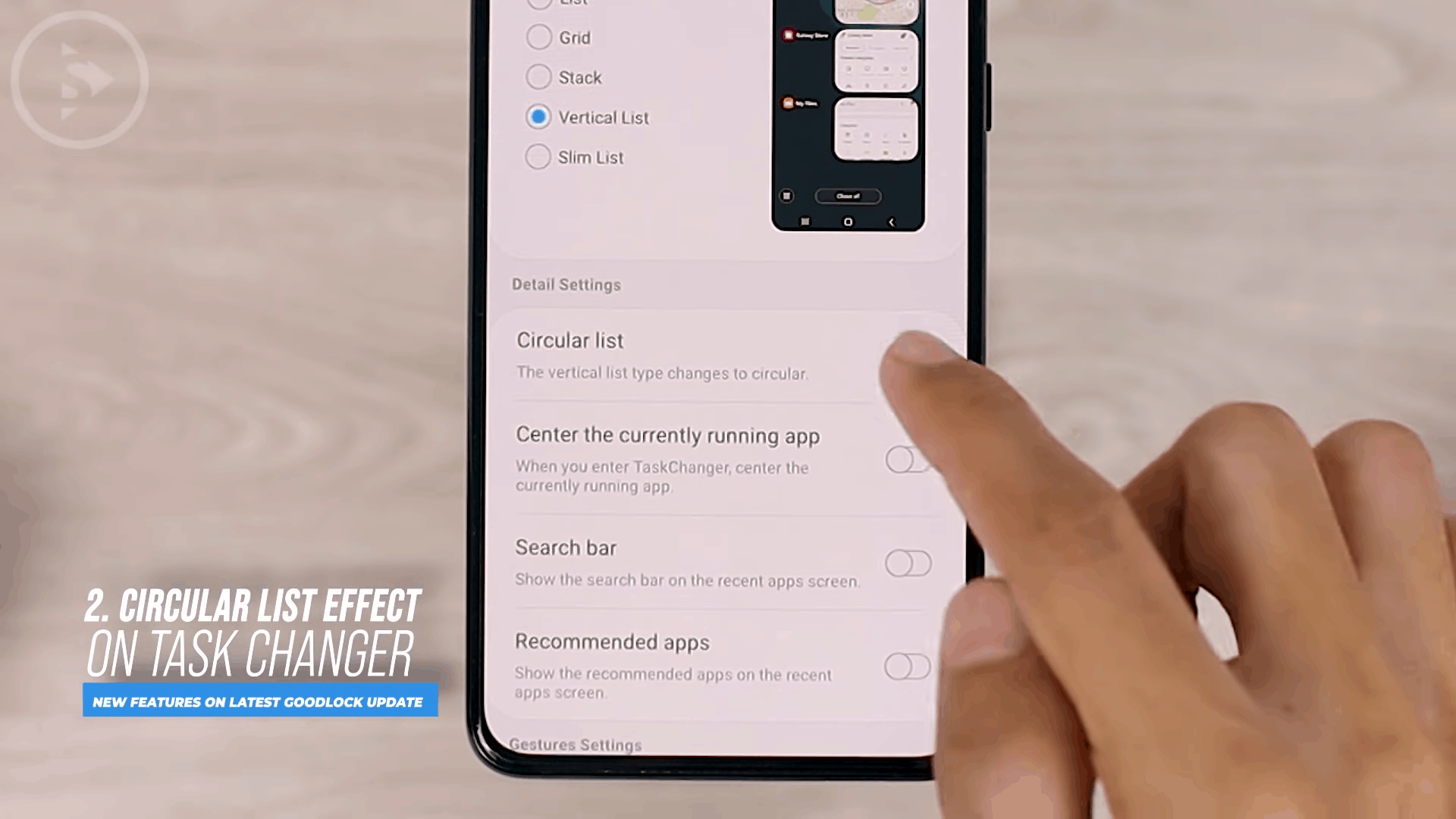 Circular List Effect on Task Changer - 8 COOL Features in the LATEST Good Lock Update April 2021