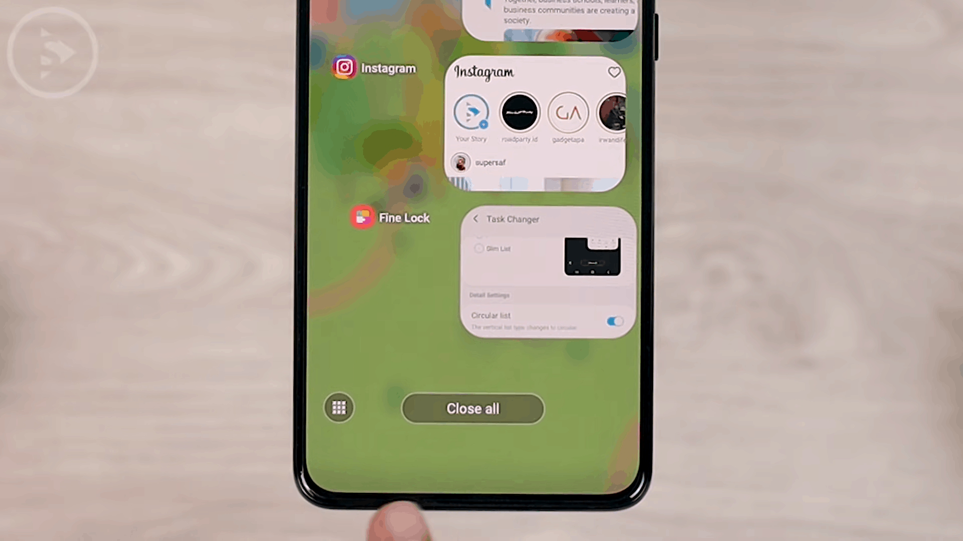 Option to Activate Recommended Apps on Task Changer - 8 COOL Features in the LATEST Good Lock Update April 2021