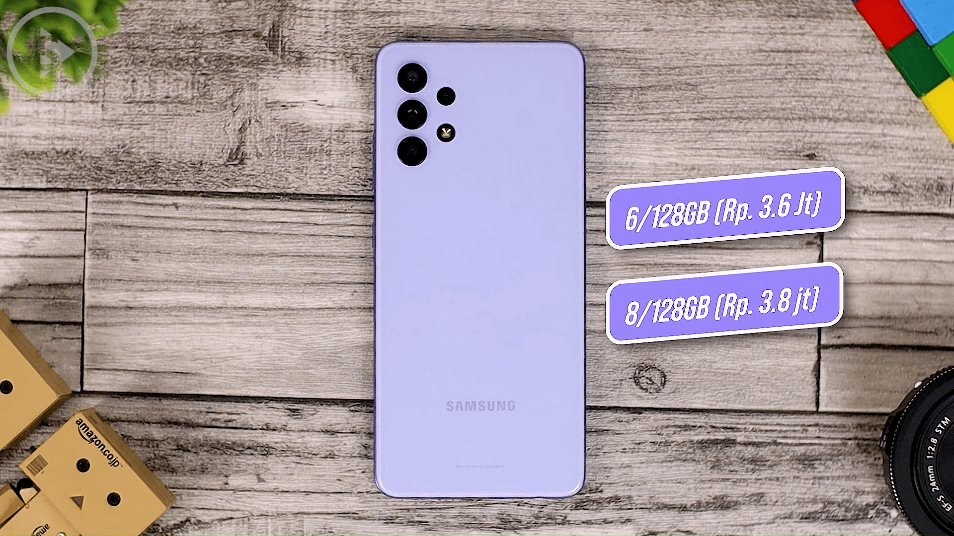 Back Case Design of Samsung Galaxy A32 - Review of Samsung Galaxy A32 Violet